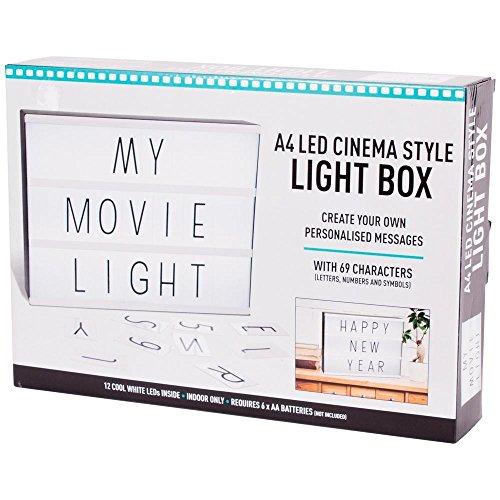 Holland Plastics A4 LED Cinema Style Light Box - Erstellen Sie Ihre eigenen personalisierten Nachrichten!