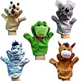 Happy Cherry Rhino/Koala/Zebra/Horse/Snake Animal Cute Plush Hand Puppet Role Play...