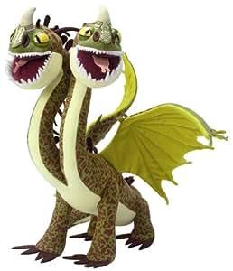 DRAGONS - Dragon 2 tetes peluche 20 cm