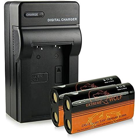 Caricatore + 2x ExtremeWolf Batteria CR-V3 per Kodak EasyShare C300