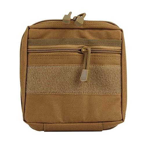 Tactical Medical Bag Storage Bag Bolsa De Lavado para Acampar Al Aire Libre Tamaño del Kit De Primeros Auxilios De Campo: 18 * 17 * 4 Cm, Gadget Electrónico Tote Holiday (Color: Marrón) Mochila
