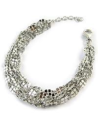 Les Trésors De Lily [N3379] - Bracelet Argent 'Cléopatra' argenté (rhodié) 5 rangs