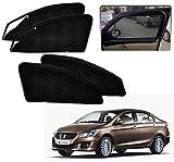 #4: Kozdiko Zipper Magnetic Car Sunshades Set of 4 Pcs Black Color for Maruti Suzuki Ciaz
