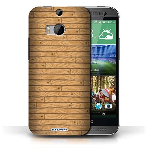 Kobalt® Imprimé Etui / Coque pour HTC One/1 M8 / Vert conception / Série Motif Bois Bois