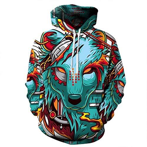 Automne Hiver Mailles 3D Sweatshirts Hommes/Femmes Hoodies À Capuche Imprimer Demon Pull À Capuche WEIYI-086 L