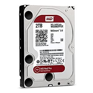 "WD Red Pro 3.5"" Disque dur interne pour NAS 8 à 16 baies 2 To 7200 RPM 64 Mo SATA 6Gb/s (WD2002FFSX - bulk)"