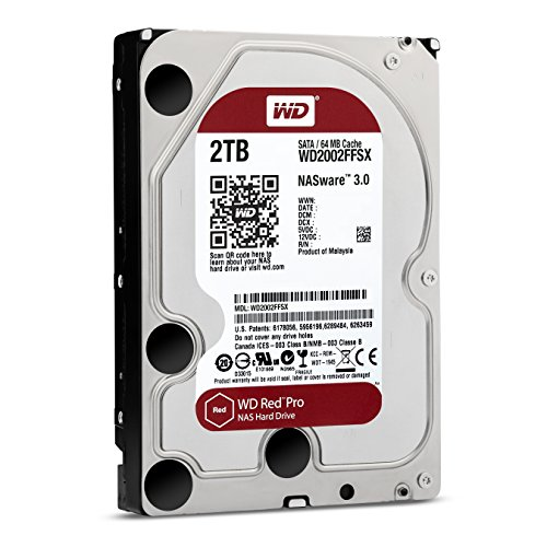 WD Red Pro 2TB SATA 6Gb/s 64MB Cache Internal 8,9cm 3,5Zoll...