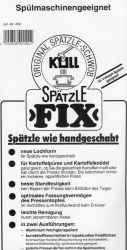 Original Kull Spätzle-Schwob FIX Spätzlepresse in SILBER – für Spätzle wie handgeschabt (spülmaschinenfest) - 3