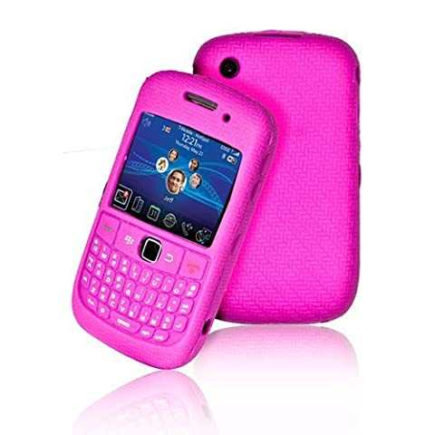 High Quality Hot Pink Keypad Silicone Case For Blackberry Curve