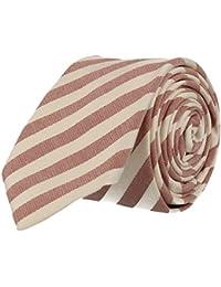 Strellson cravate étroite rouge blanc rayé 6 cm