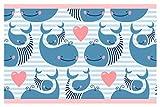 I-love-Wandtattoo Kinderzimmer Bordüre Borte Wale Unterwasserwelt Fische selbstklebend