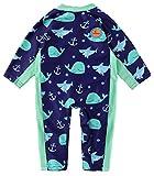 Swimbubs Costume da Bagno per Bambini UV Costume da Bagno per Bambini Costume da Bagno per Ragazze Protezione Solare Rash Guard Vest Toddler UPF50 (12-24 Mesi, Blue Whale)