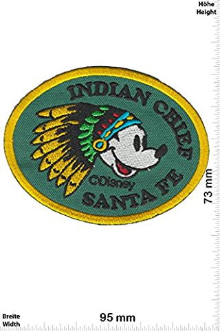 Patches - Mickey Mouse - Indian Chieff Santa Fe -