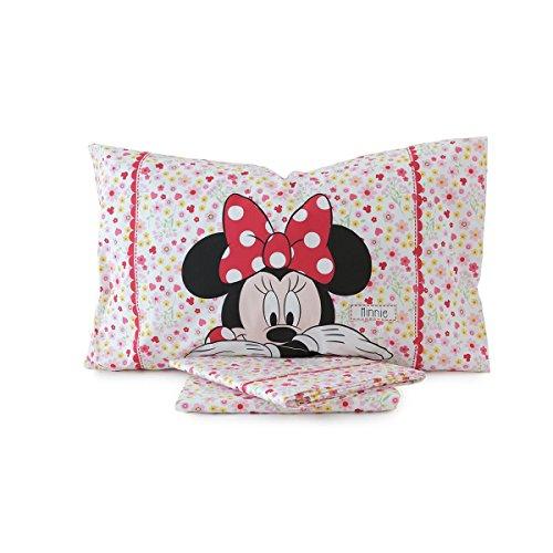 CALEFFI completo lenzuola Minnie Provenza letto 1 piazza e mezza Disney 2016