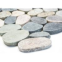 azulejos mosaico mosaico azulejos baño suelo Cocina piedra natural Kiesel plano 6mm Nuevo # 272