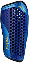 Mitre Aircell Carbon Slip Football Shin Pads - Bluecyanyellow, X-large