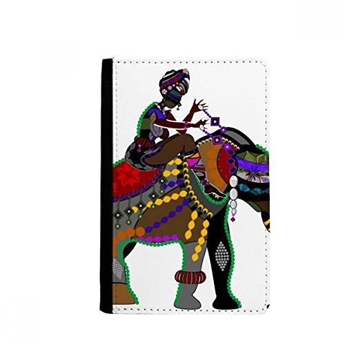 beatChong Senderismo del Elefante De Porcelana De Vestir Minoría Tótem Monedero Pasaporte De Viajes Portatarjetas De La Caja Cubierta De La Carpeta