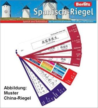 Spanisch-Riegel - Riegel: Der Kommunikationshelfer zum Zeigen und Sprechen