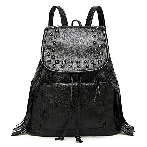 Mefly Donna Borsa A Tracolla Borsa Moda Nero black