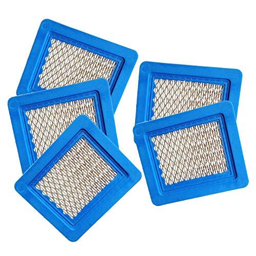 Poweka Luftfilter 5 pc Kompatibel mit Briggs und Stratton 491588S 4915885 491588 399959 Luftfilterpatrone Rasenmäher Filter (Honda Portable Generator)