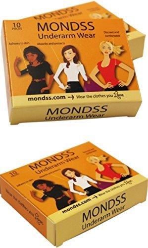 MONDSS pack triple de l'usure des aisselles - Pads Sweat ( Adhérer / coller à la peau ) pour Hommes / Femmes . € 2 Livraison dans le monde .