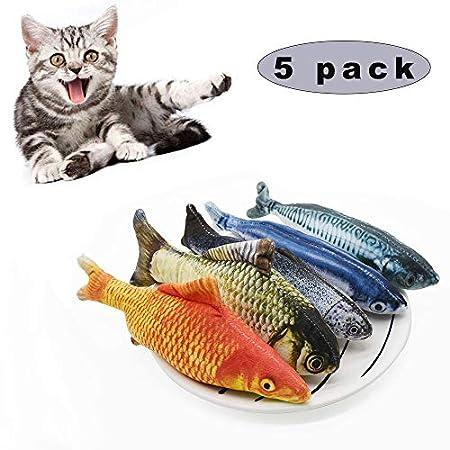 Sunshine smile Katzenspielzeug Fisch,Catnip Spielzeug,katzenminze Fisch,Katze Interaktive Spielzeug,20CM Simulation…