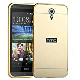 D-kandy Luxury Metal Bumper + Acrylic Mirror Back Cover Case For HTC DESIRE 620 620G - GOLD Amazon