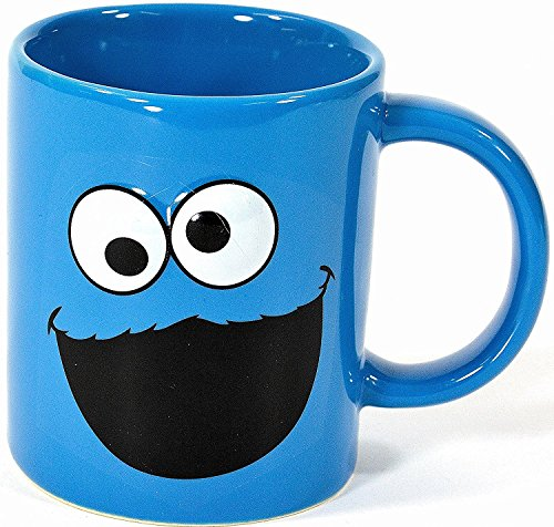 Sesamstrasse Tasse Krümelmonster Kaffeetasse Sesame Street Cookie Monster Mug Becher (Becher Cookie)