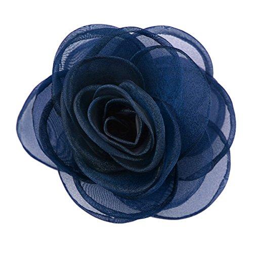 Merida Damen reizende Seidenblume Haarspange Haarschmuck Rose Broschen