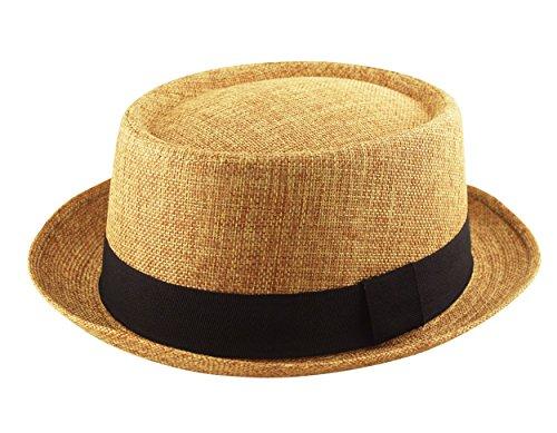 Adult Pork Pie Trilby Fedora Jute Hessian Feel Hat Band Unisex (Breaking Bad Heisenberg Style)