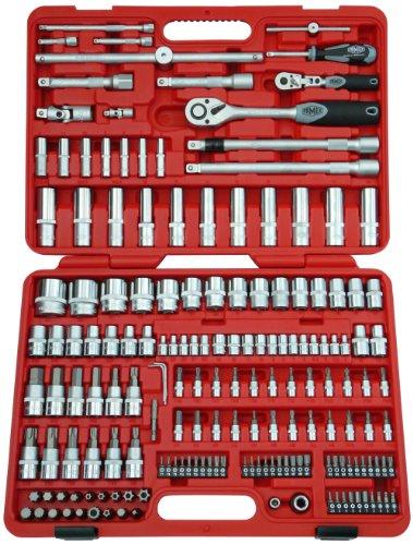 Famex 525-21 Coffret de clés à cliquer à tête pivotante et fine denture 174 pièces 12,5 mm (1/2\