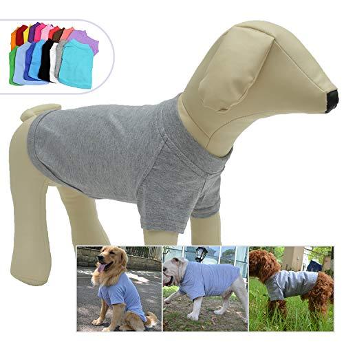 Kostüm Basic Best - longlongpet 2019 Haustier-Kostüme für Welpen, Hunde, unbeschriftet, T-Shirt, T-Shirts für große, mittelgroße und kleine Hunde, 100% Baumwolle, 18 Farben