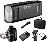 Godox AD200Pro 200Ws 2.4G TTL HSS 1/8000 Pocket Flash Monolight Double Head Strobe con batteria al litio 2900mAh per Nikon Sony Fujifilm Olympus Panasonic Pentax Canon EOS Telecamere