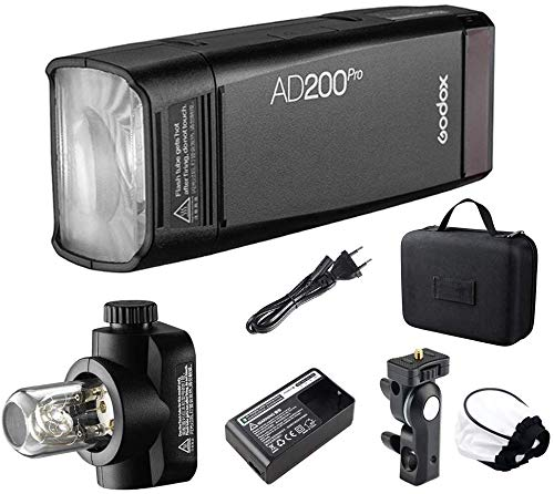 Godox AD200Pro 200Ws 2.4G TTL HSS 1/8000 Pocket Flash Monolight Double Head Strobe con batteria al litio 2900mAh per Nikon Sony Fujifilm Olympus
