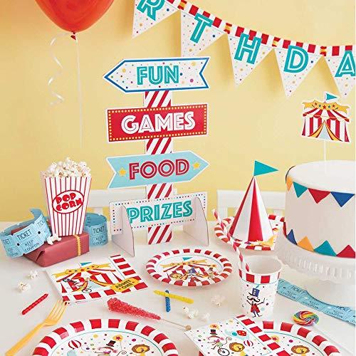 Unique Party 72476 - Copas de papel para fiesta de carnaval de circo