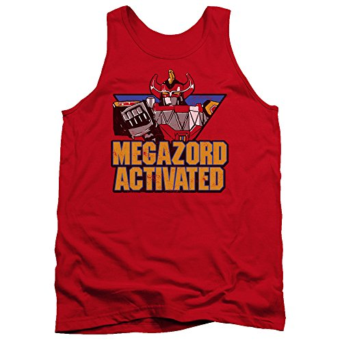 Power Rangers - - Megazord hommes Activé Débardeur, XX-Large, Red