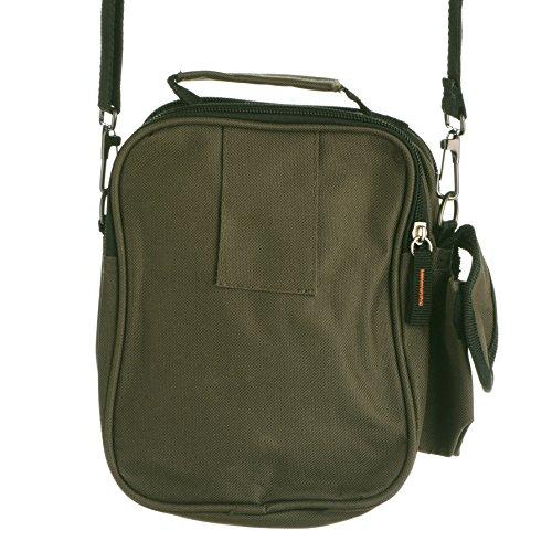 Unisex comodo stile tela/borsa a tracolla multiuso con passante per cintura, colore: nero, cachi, verde oliva) Olive Green