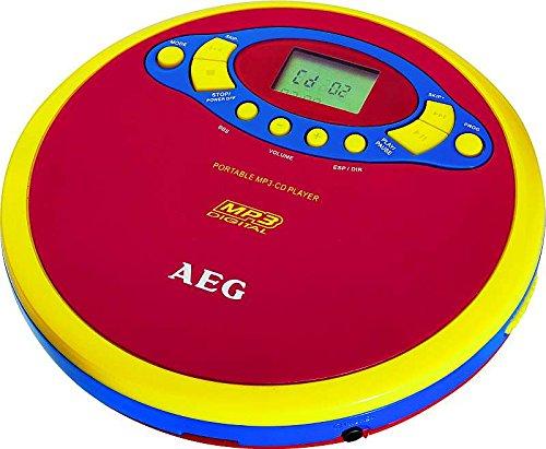 tragbarer CD-Player MP3-Player mit LCD-Display Discman für Kinder CD-Spieler im bunten Design (exkl. Batterien + mit Kopfhörer)