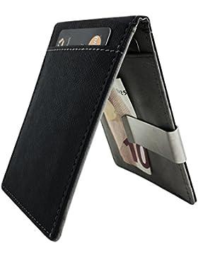 veryme THEVERY Clip de Dinero Cuero Cartera - Slim Billetero Tarjetero Para Hombre De Crédito cuero fina para...