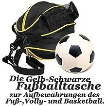 Der&Die 2 en 1 Elegante y mutifunktionale Fútbol Bolsa De Deporte Bolsa de deporte para entrenamiento y fitness (Adecuado No sólo para los adultos Sino también para niños), amarillo y negro