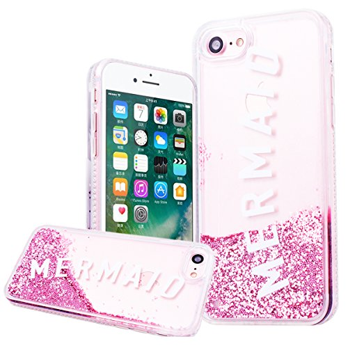 WE LOVE CASE Coque iPhone 7, Coque Diamante Bling Sparkle Brillant Glitter de Protection en Premium Hard Plastique Dur Coque iPhone 7 Anti Choc Bumper, Anti-Rayures Anti-dérapante Coque Apple iPhone 7 Sirène