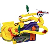 E-Global Shop Track Racer Racing Car Set With Helicoptor, Battery Operated Musical Kids Game
