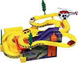 #9: Track Racer Racing Car Set with Helicopter, Battery Operated Gift Toy for Kids