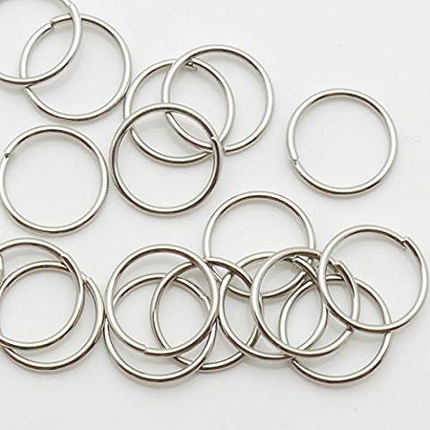 thetastejewelry 10mm 20g Rund Jump Ring Stahl Viel 1000pcs Ergebnisse Schmuckherstellung Enden