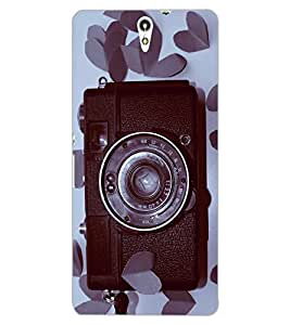 ColourCraft Love background Design Back Case Cover for SONY XPERIA C5 ULTRA DUAL