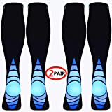pinshun (2 Pairs) Compression Socks/Stockings for Men & Women,Speed Up Recovery Best...