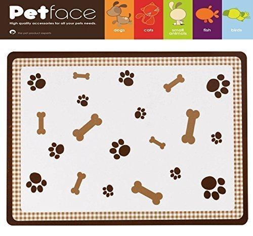 Petface mascota perro gato Mantel individual Bones Marrón Alimentación Mat-Esterilla alimentaria Alfombrilla Feed