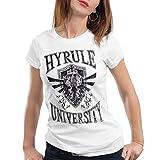 style3 University of Hyrule Damen T-Shirt, Farbe:Weiß, Größe:S