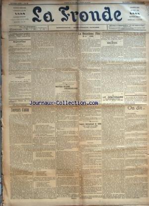 FRONDE (LA) [No 199] du 25/06/1898 - EPHEMERIDES - VIEUX SENS DU MOT LIBERTIN PAR M.-L.N. - SOUVENIRS D'ANTAN PAR MANOEL DE GRANDFORT - NOTES D'UNE FRONDEUSE - J'ACCUSE... PAR SEVERINE - LA DEUXIEME FETE DE LA FRONDE - CONGRES INTERNATIONAL DE 1900 POUR LE DROIT DE LA FEMME ET LE DROIT DES ENFANTS - EDELWEISS PAR N. - LE CENTENAIRE DU CONSERVATOIRE NATIONAL DES ARTS ET METIERS (1798-1898) PAR LUGY D'HERRIGNY - ON DIT... - UN PEU PARTOUT.