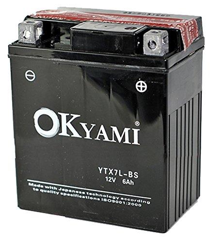BATTERIA OKYAMI YTX7L-BS CON ACIDO